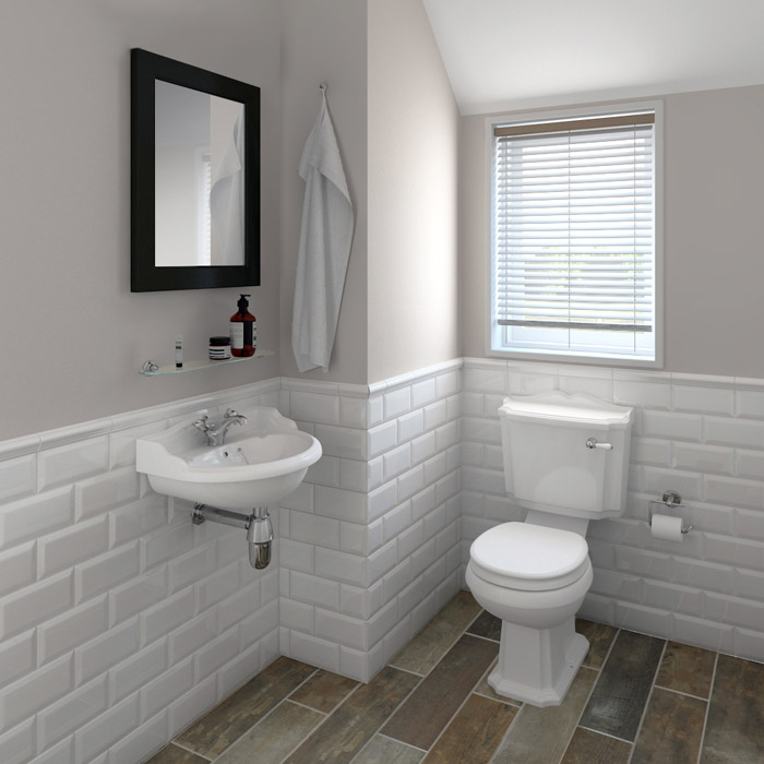 Metro White 200x100mm Ceramic Wall Tiles Eurotiles And
