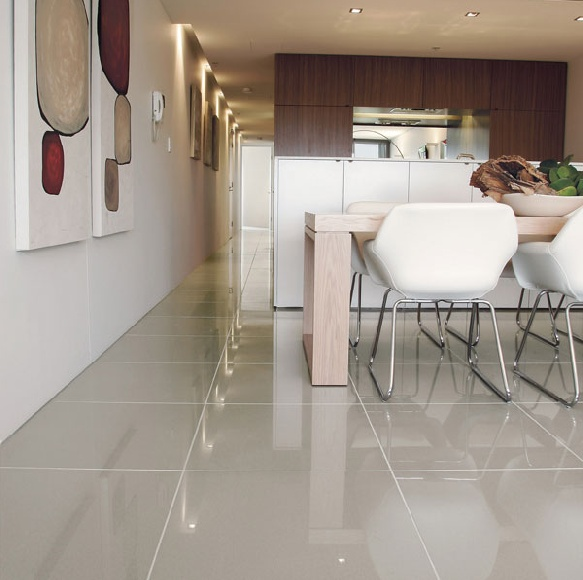 Luxurious Cream Ivory Polished Porcelain Tiles Eurotiles