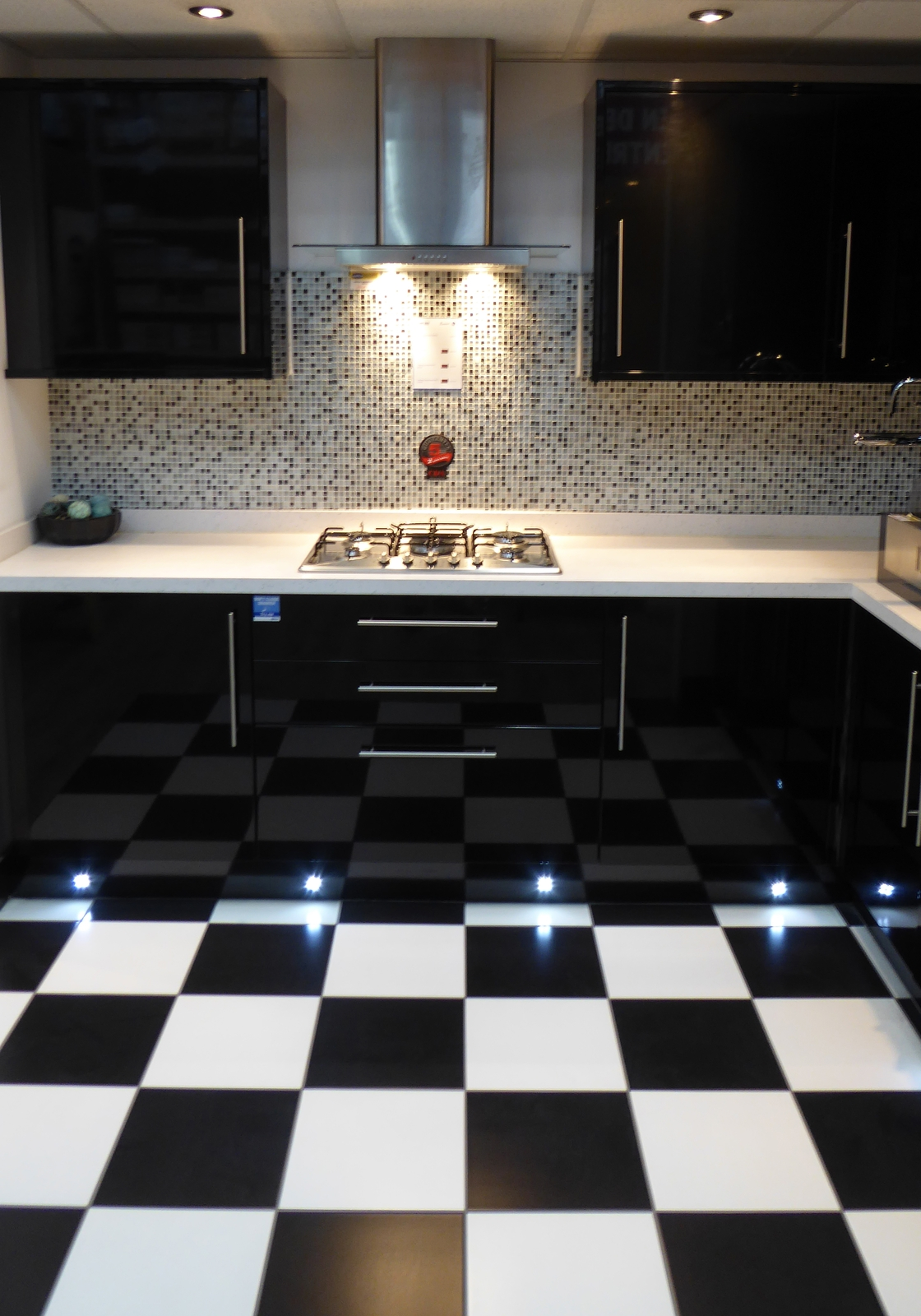 White Black Ceramic Floor Tiles Monochrome Floor Tiles