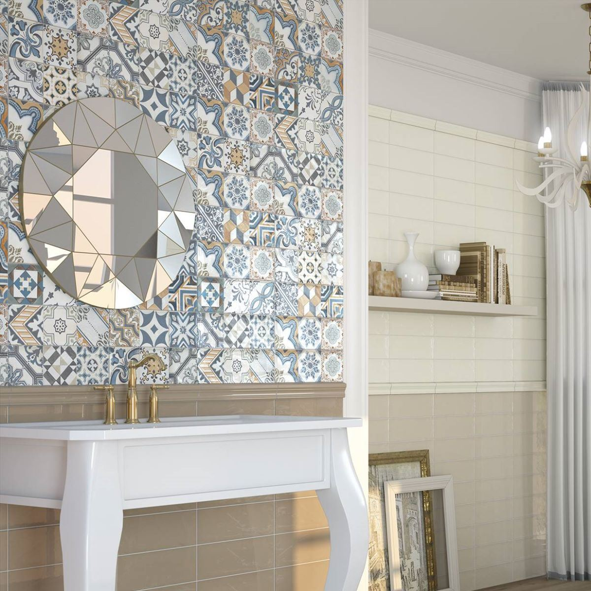 Patterned Mixed Warm Décor Wall Tile
