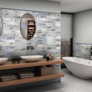 Columbia matt white bathroom