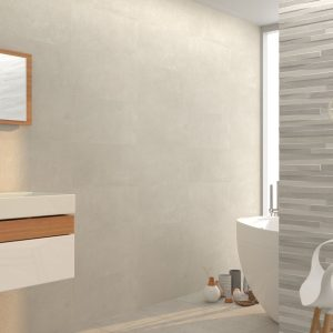 Innovation grey bathroom.