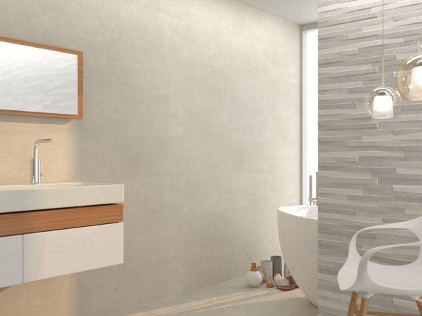 Innovation grey bathroom.