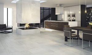 Venus Blanco kitchen dining area.
