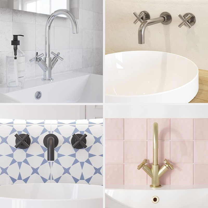Modern bathroom taps and sinks